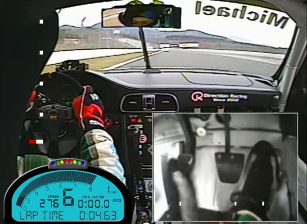 ドグミッションのシフト操作が良く判る! ポルシェ997 GT3 CUPでフジスピードウェイを爆走