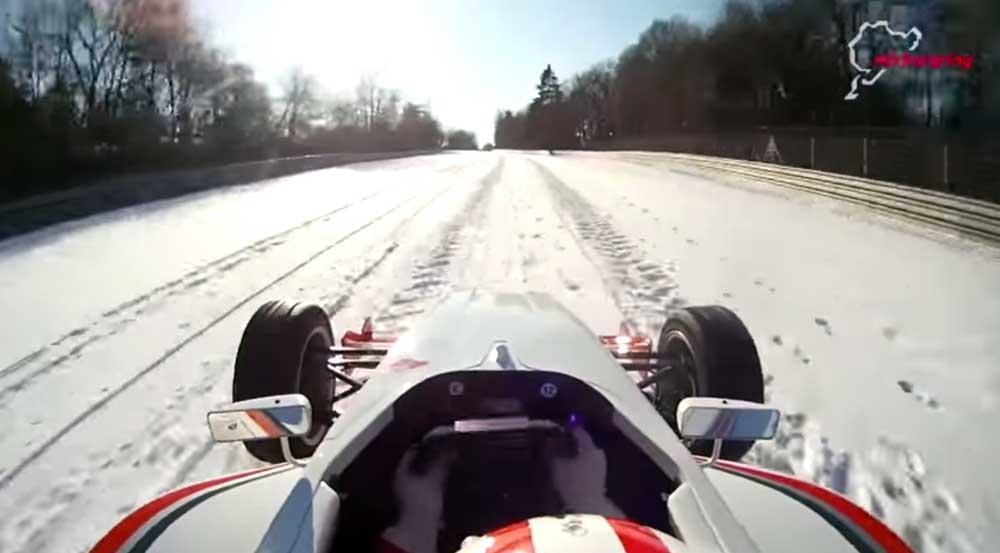 【神運転】雪の積もったニュルブルクリンク北コースをフォーミュラーカーで爆走