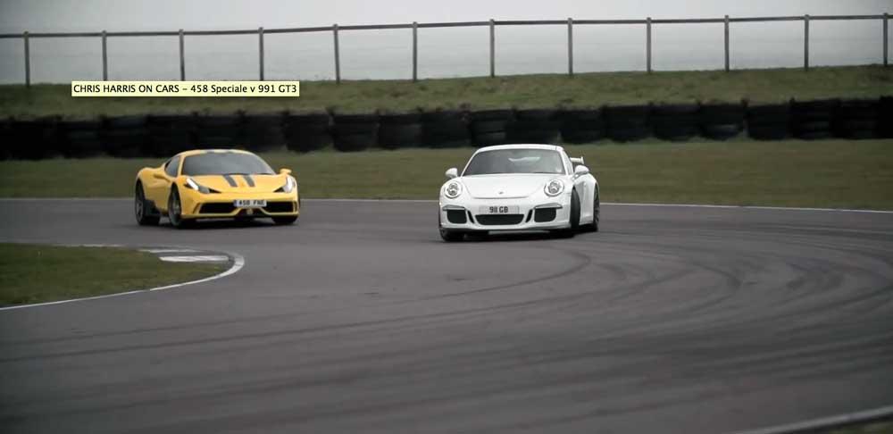 【ガチバトル】ポルシェ991 GT3とフェラーリ458スペチアーレが本気で走ったらどちらが速いのか。