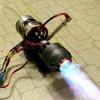 室内でジェットエンジンに燃料吹き付けてアフターバーナー点火してみた。