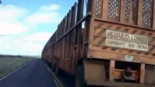 長えぇぇwww 電車と思ったらトラックだった。
