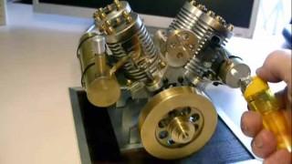 暇だったから V4真空エンジンを作ってみた。