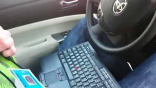 ぎゃぁぁー!!怖い!!  Googleエンジニアが自動運転仕様に改造したプリウスに乗ってみた!