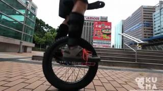 台湾の町並みを一輪車で案内するよ!